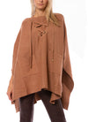 Ravel - Poncho w/Lace Up Front (W-598, Camel)