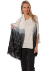 Subtle Luxury - Woven Shirne Scarf (SPSSP73, Black & White)