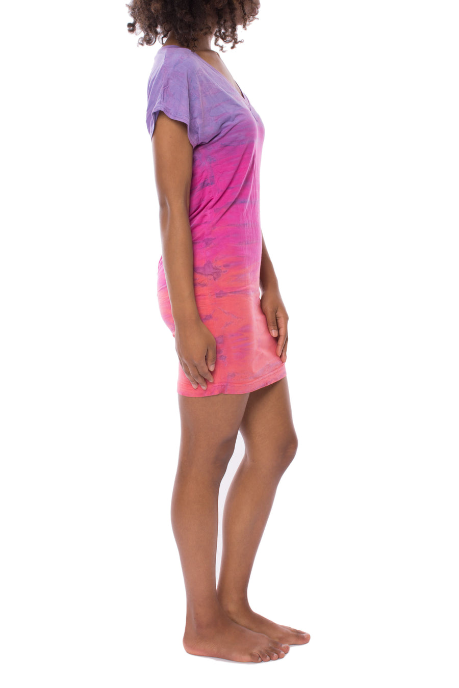 Siro Jersey T Shirt Dress (Style SIR-29, Tie-Dye RH62) by Hard Tail Forever