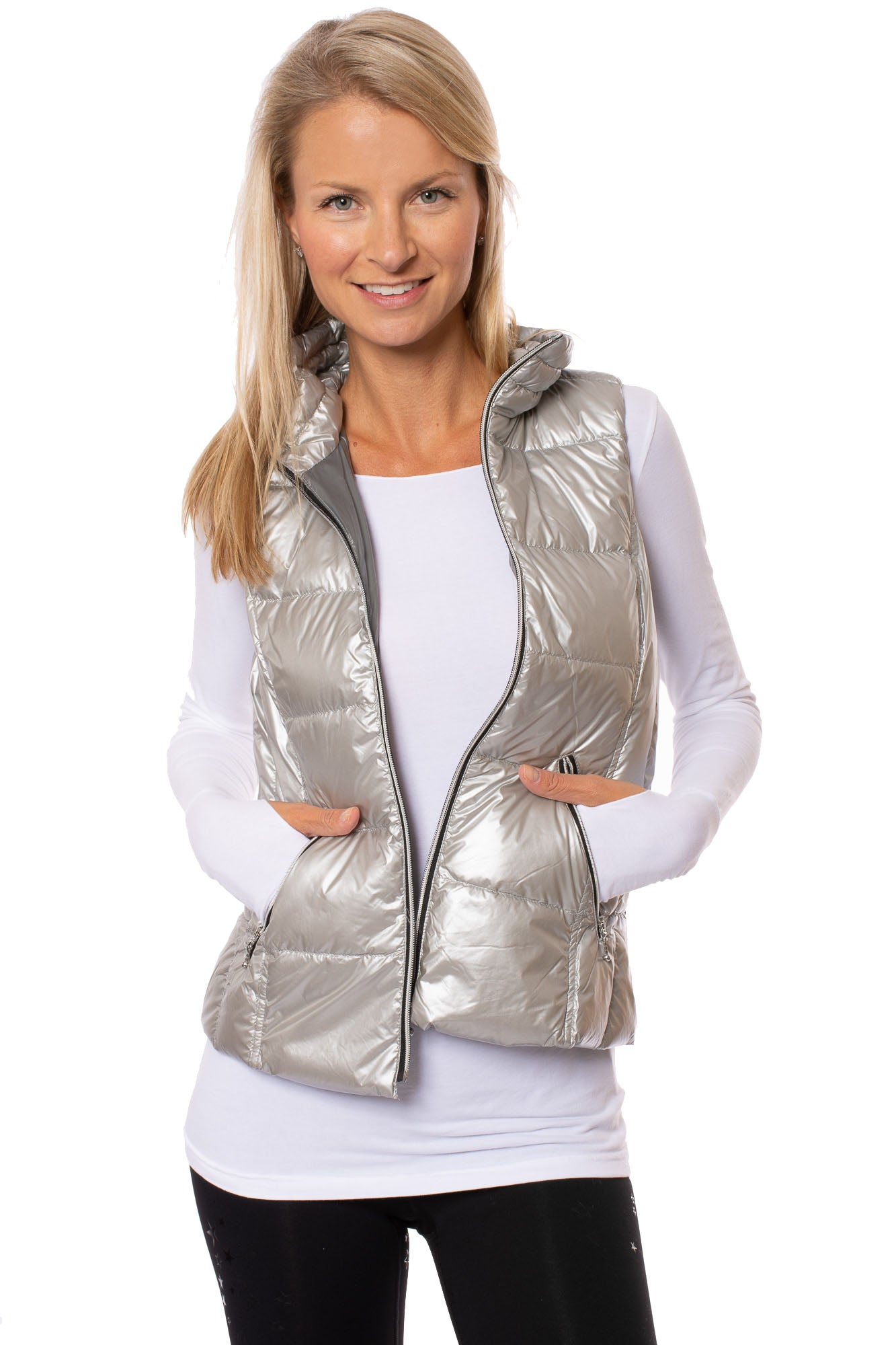 Anorak - Metallic Short Vest (50172CA, Metallic Silver)