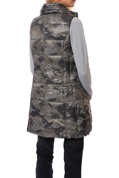 Anorak - Camo Long Vest (50171CAZP, Black Camo) alt view 2