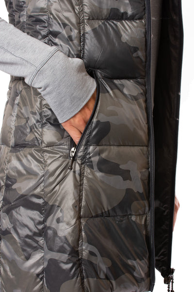 Anorak - Camo Long Vest (50171CAZP, Black Camo) alt view 3