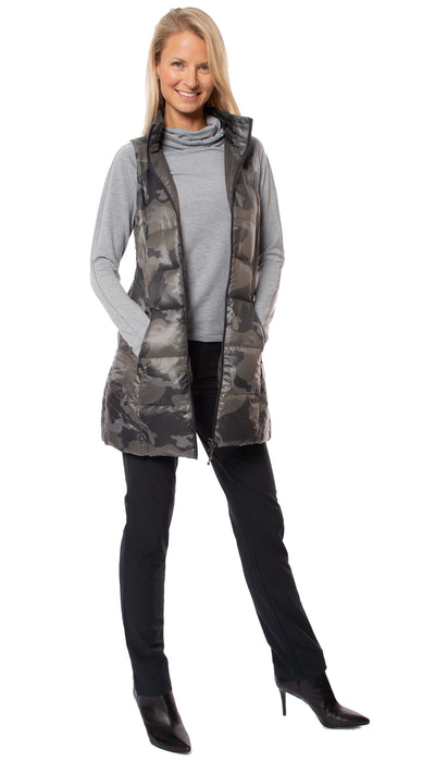 Anorak - Camo Long Vest (50171CAZP, Black Camo) alt view 6