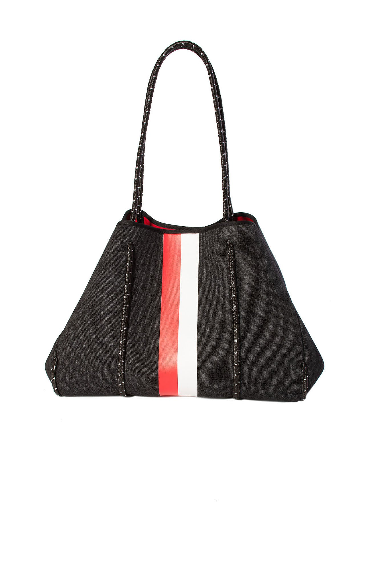Haute Shore - Greyson Collegiate Bag (Black w/Red & White Stripe)