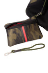 Haute Shore - Greyson Brat2 Neoprene Tote Bag w/Zipper Wristlet Inside (Greyson, Camo Gren w/Black & Red Stripe) alt view 6