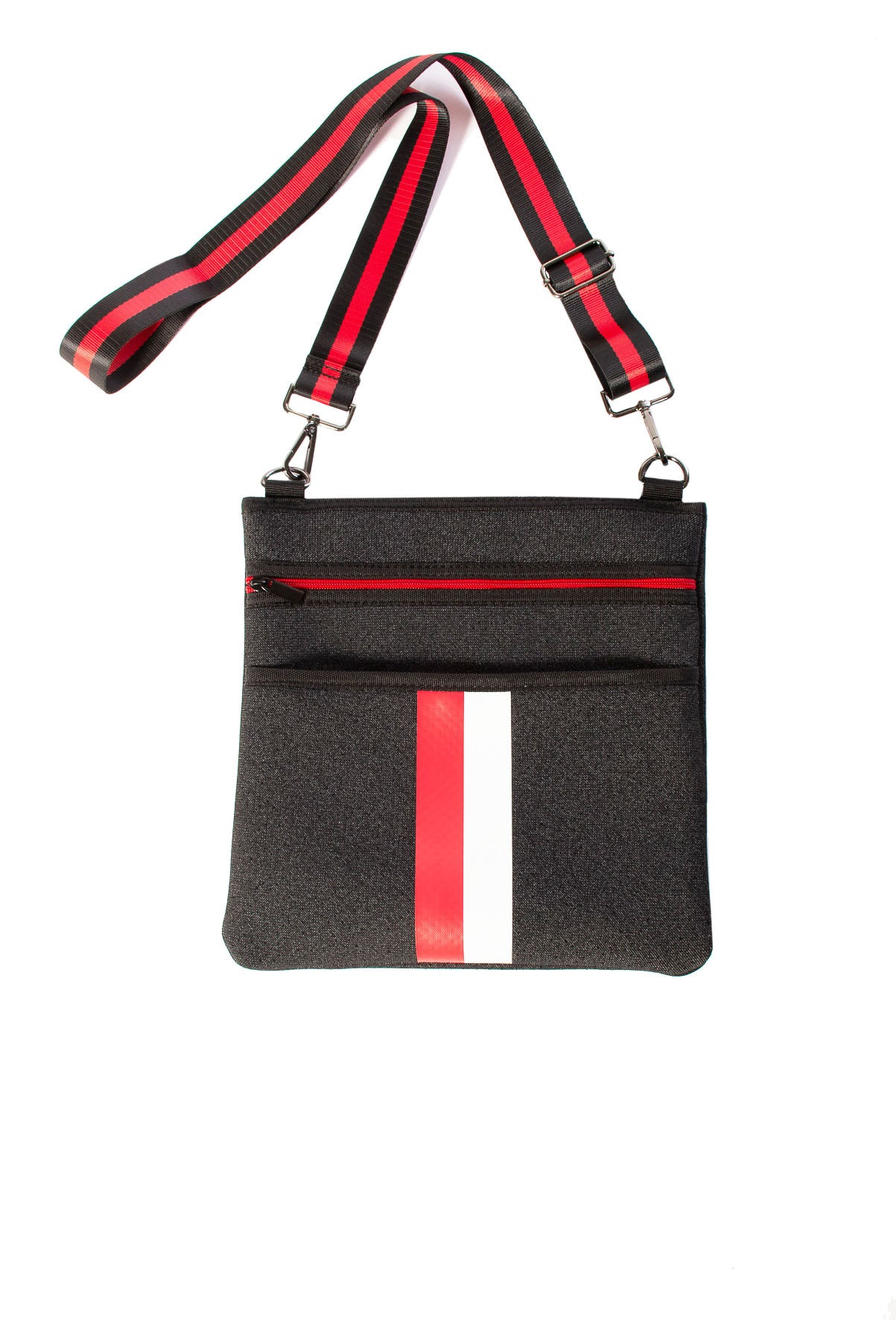 Haute Shore - Peyton Prep Crossbody (Black w/Red & White Stripe)