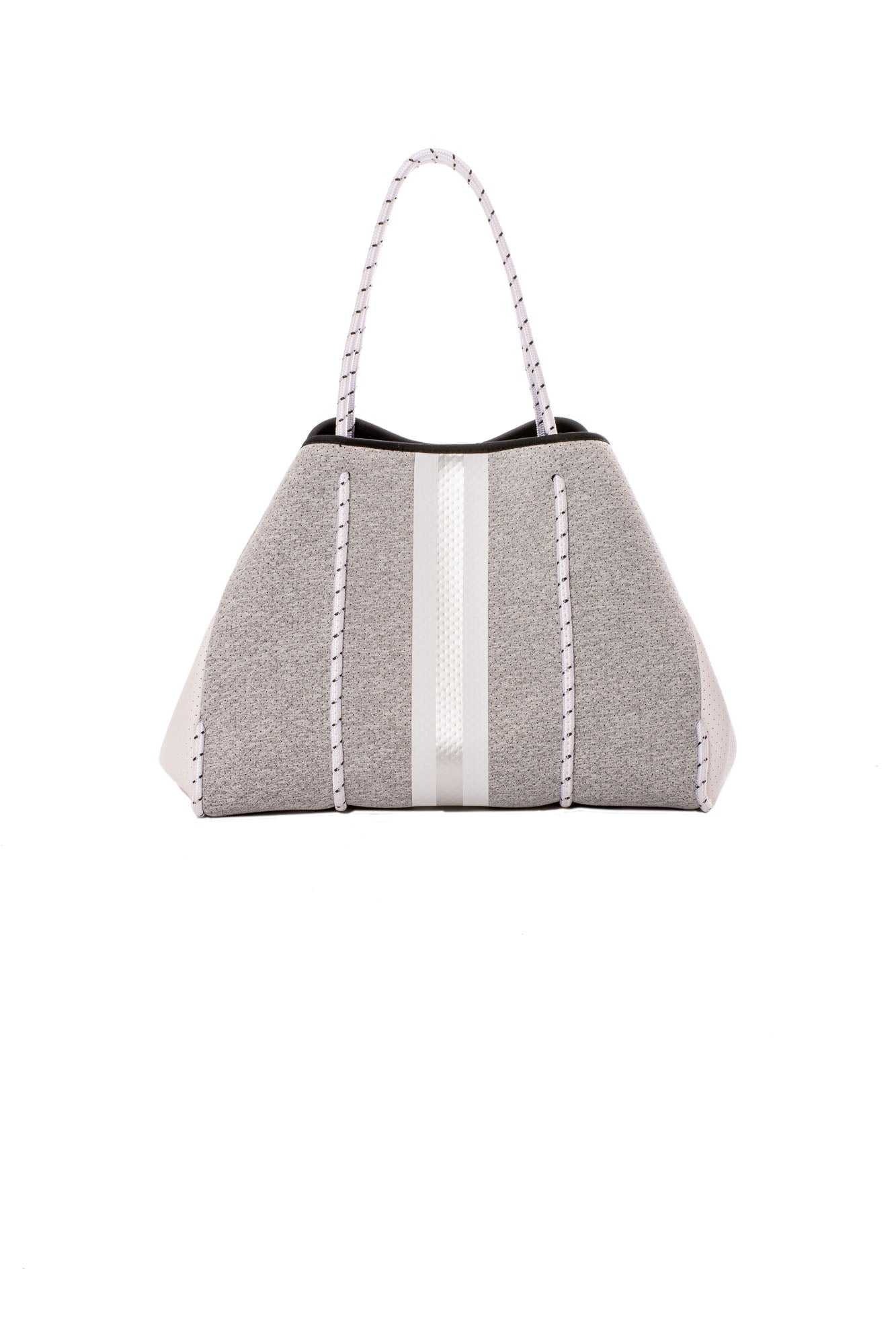 Haute Shore - Greyson Aspen Neoprene Tote Bag w/Zipper Wristlet Inside (Aspen, Marled Heather & White/Silver)