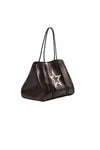 Haute Shore - Greyson Vegas Neoprene Tote Bag w/Zipper Wristlet Inside (Vegas, Black w/White Star) alt view 1