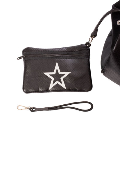 Haute Shore - Greyson Vegas Neoprene Tote Bag w/Zipper Wristlet Inside (Vegas, Black w/White Star) alt view 4