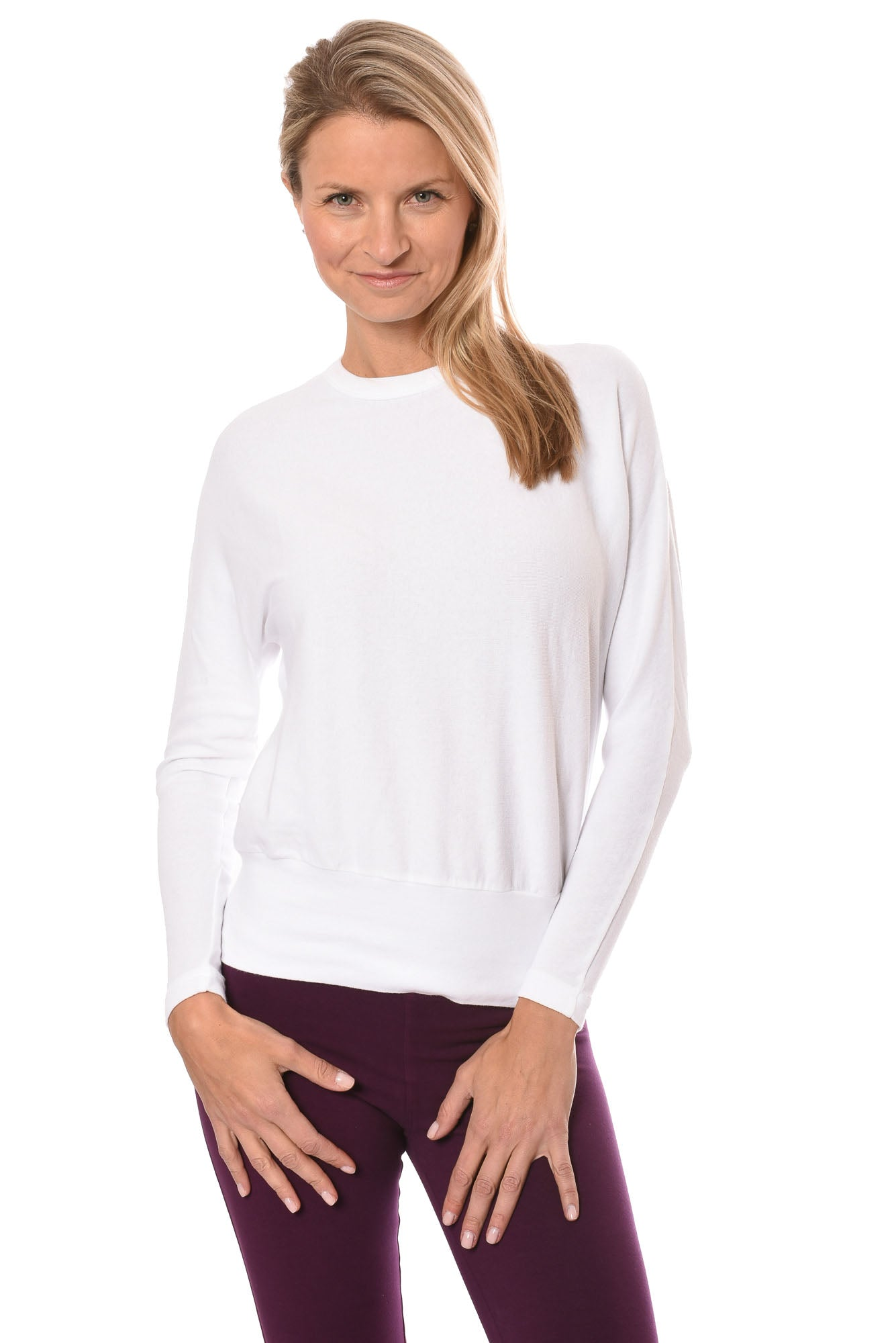 Hard Tail Forever - Crew Neck Long Sleeve Banded Waist (T-216, Dragon Fruit)