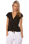 Sanctuary - Ingrid Tie Front Top (T2663-KS289, Black)