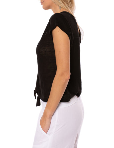 Sanctuary - Ingrid Tie Front Top (T2663-KS289, Black) alt view 1