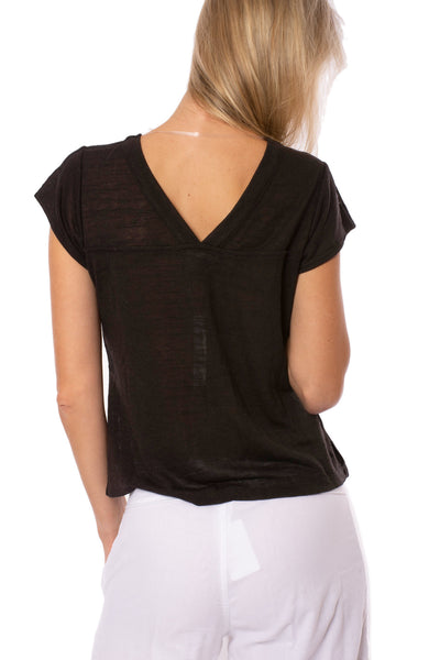 Sanctuary - Ingrid Tie Front Top (T2663-KS289, Black) alt view 2