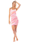 Hard Tail Forever - 1X1 Skinny Mini Dress (T-150, Tie-Dye DSW7)