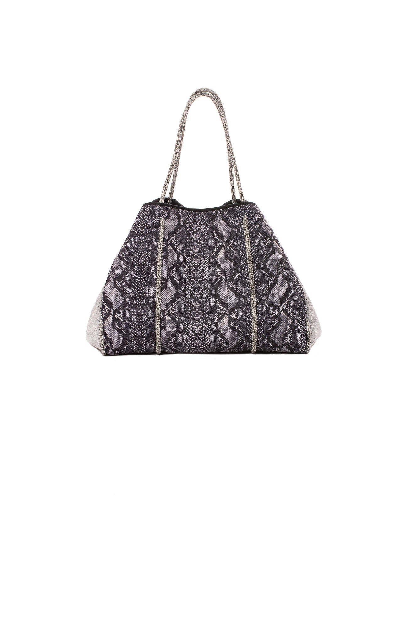 Haute Shore - Greyson Rebel Neoprene Tote Bag w/Zipper Wristlet Inside (Rebel, Gray Python w/Heather Marle Sides)