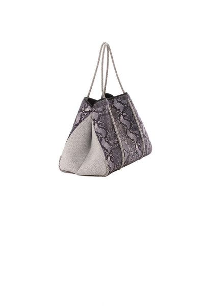 Haute Shore - Greyson Rebel Neoprene Tote Bag w/Zipper Wristlet Inside (Rebel, Gray Python w/Heather Marle Sides) alt view 1