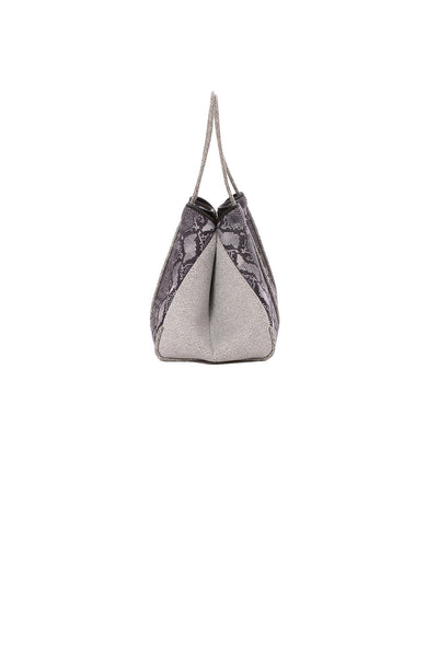 Haute Shore - Greyson Rebel Neoprene Tote Bag w/Zipper Wristlet Inside (Rebel, Gray Python w/Heather Marle Sides) alt view 2