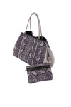 Haute Shore - Greyson Rebel Neoprene Tote Bag w/Zipper Wristlet Inside (Rebel, Gray Python w/Heather Marle Sides) alt view 3