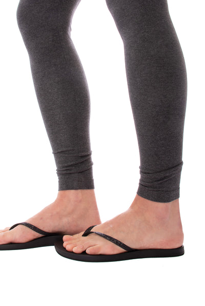 Flat Waist Ankle Legging (Style W-452, Dark Charcoal) by Hard Tail Forever