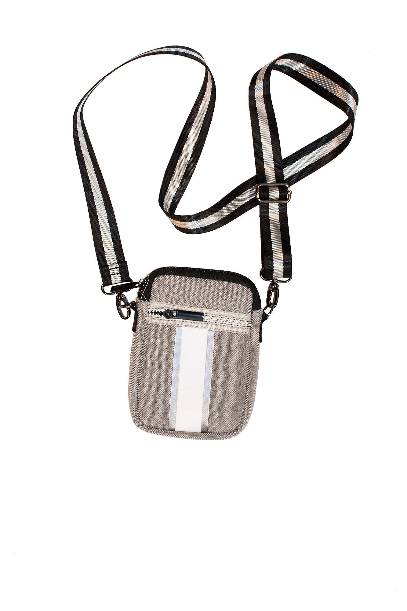 Haute Shore - Casey Gray Linen Cell Phone Crossbody (Casey, Gray Linen)