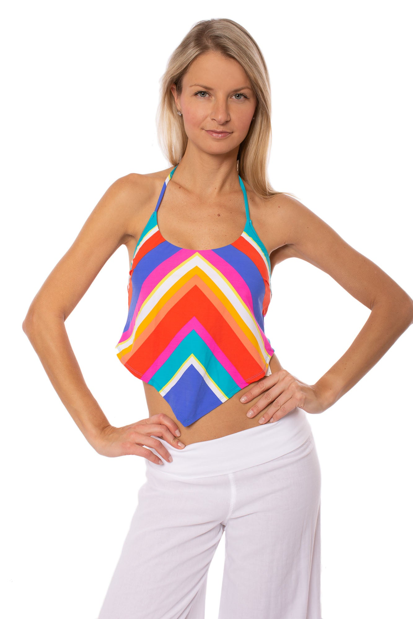Trina Turk - Sunset Chevron Tankini (TT9HU82, Multi Color)