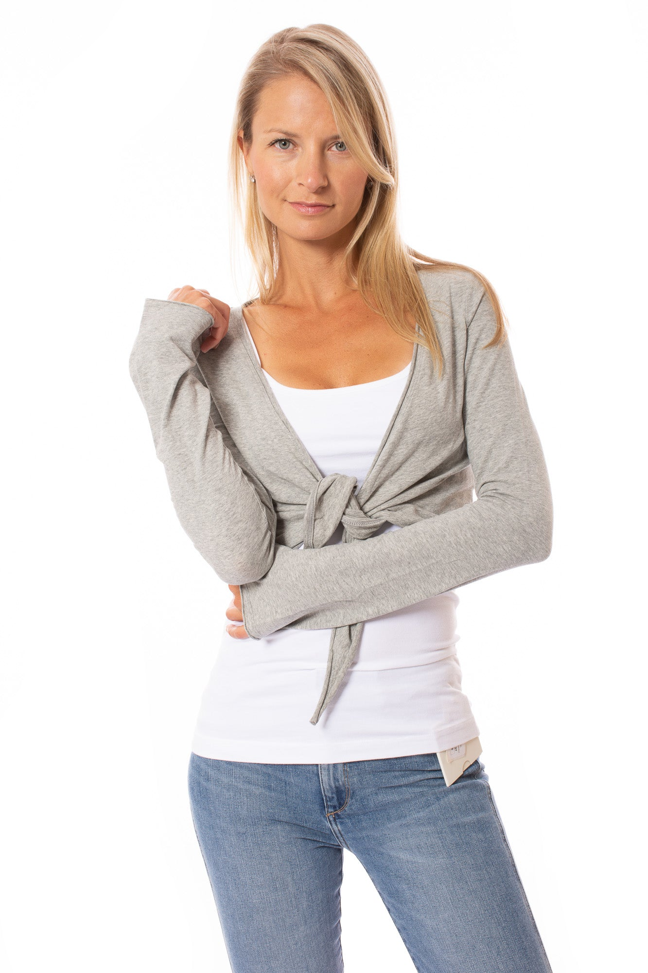 Hard Tail Forever - Crop Bell Sleeve (SL-12, Heather Gray)