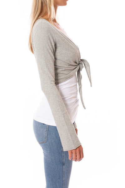Hard Tail Forever - Crop Bell Sleeve (SL-12, Heather Gray) alt view 1