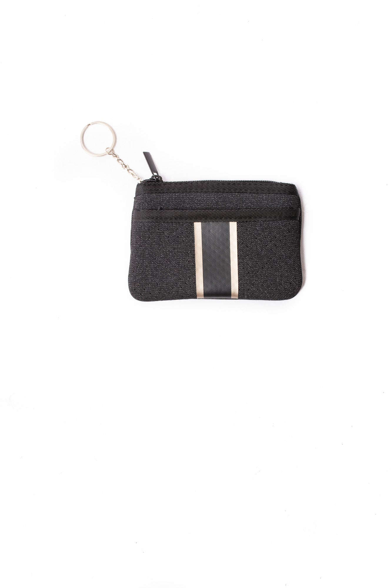 Haute Shore - Grand Card Case (Max, Black Denim w/Platinum Stripe)