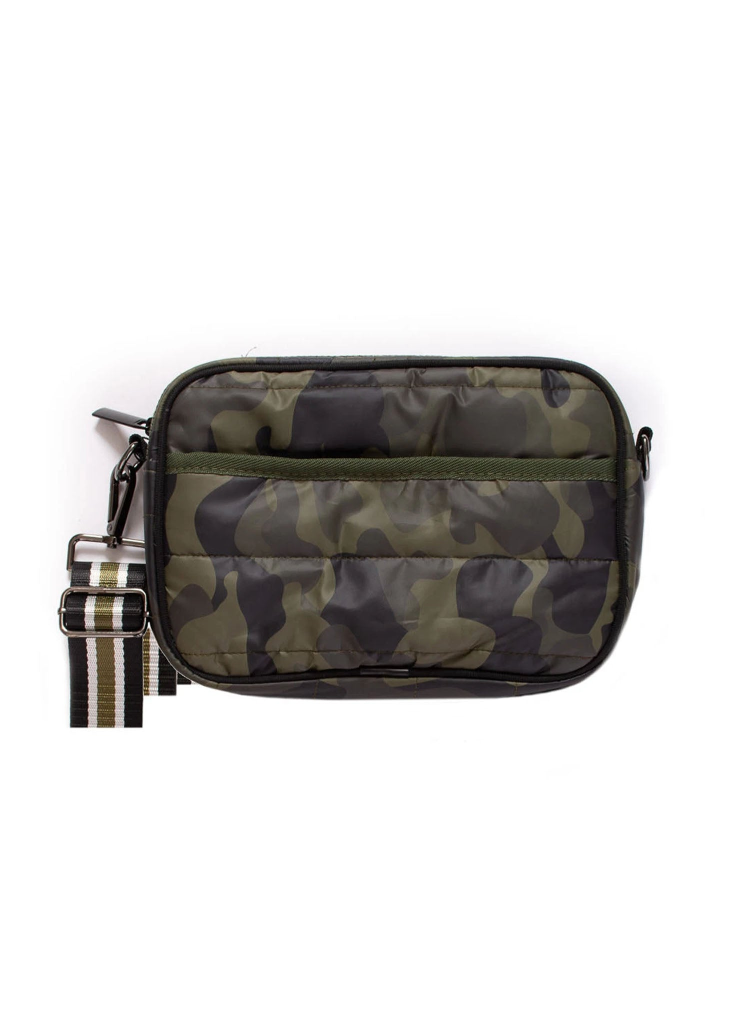 Haute Shore - Drew Sarg Crossbody (DREW, Green Camo w/Black, Cream, Green Stripe)