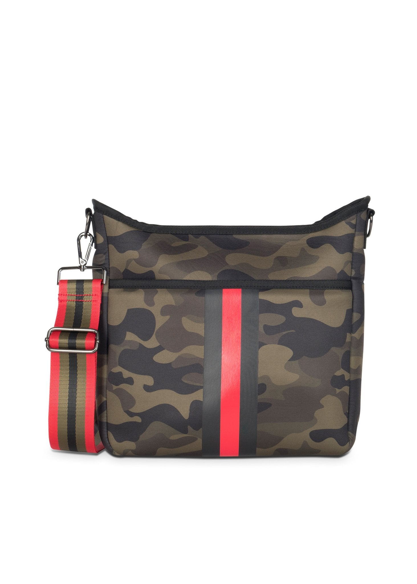Haute Shore - Blake Brat Cross Body (Blake, Camo Green w/Black & Red Stripe)