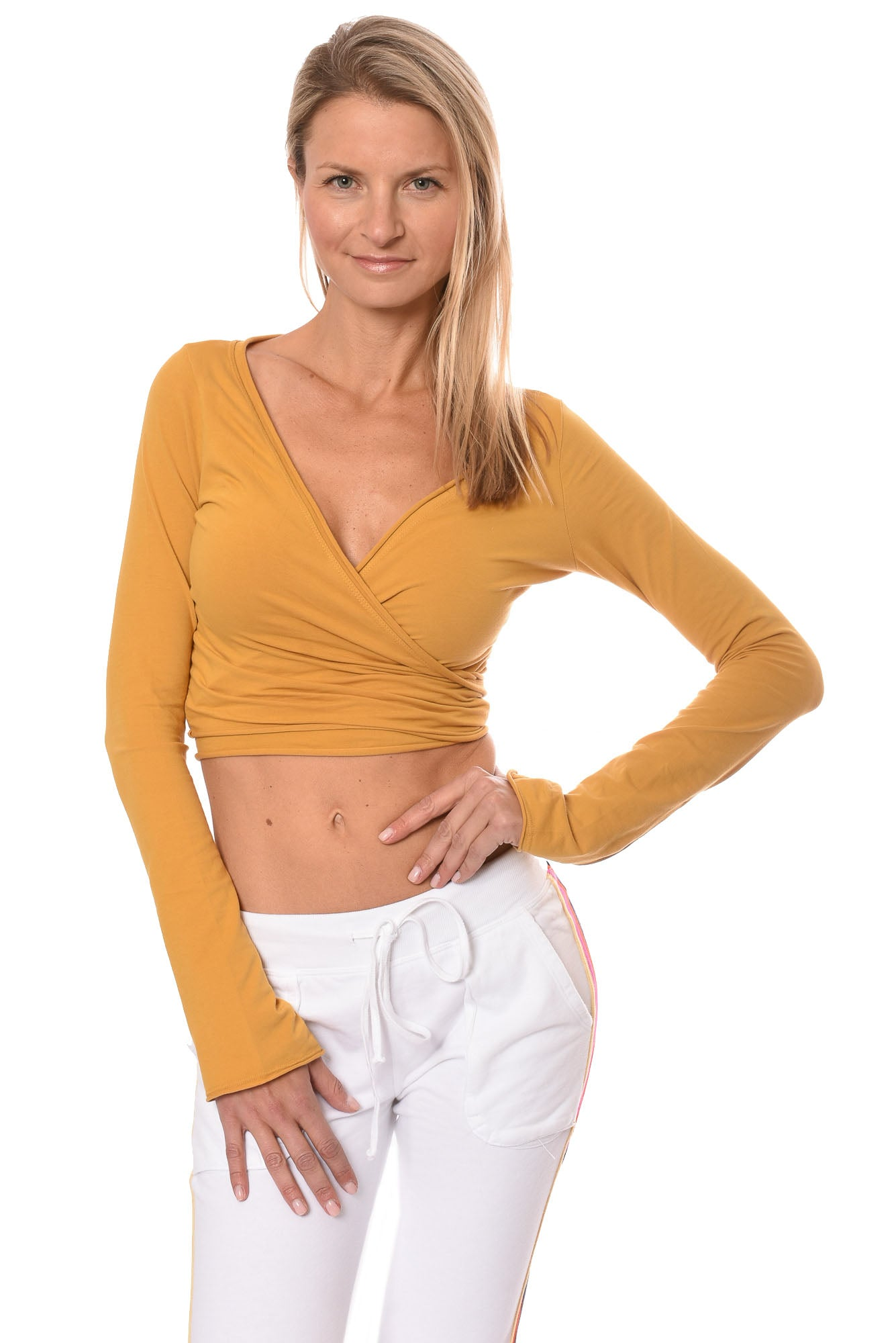 Hard Tail Forever - Crop Bell Sleeve (SL-12, Honey)