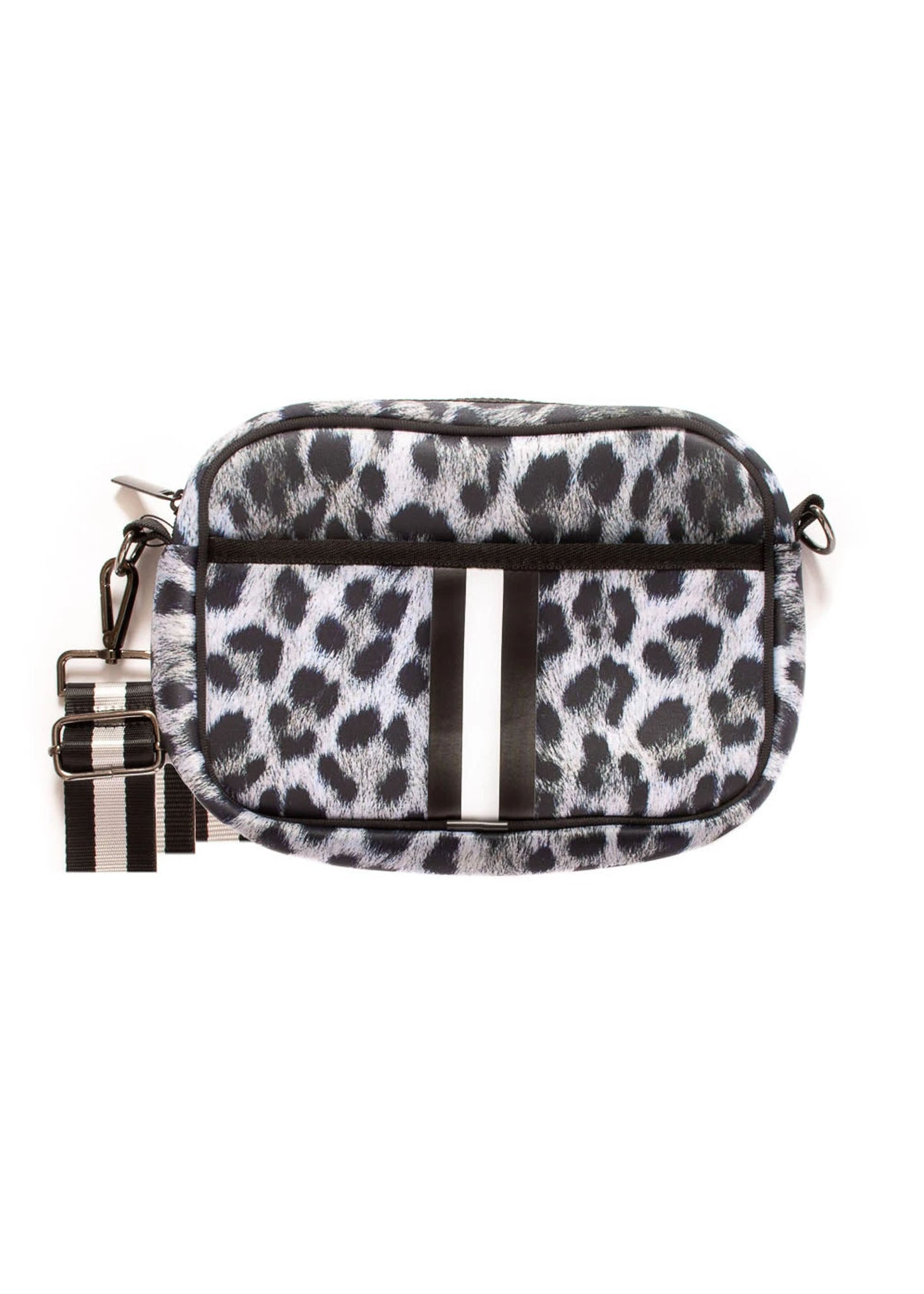 Haute Shore - Drew Babe Crossbody (DREW, Snow Leopard Print w/Black & Cream Stripe)
