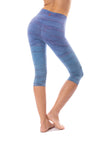 Hard Tail Forever - Hi Rise Knee Legging (W-943, Tie-Dye RH83) alt view 2