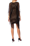 Analili - Leopard Print Dress W/Black Cover Shift (A1683, Leopard & Black) alt view 2