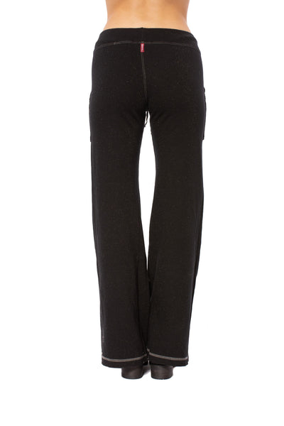 Hard Tail Forever - Easy Pocket Lounge Pant W/Lurex (HGF-07, Black) alt view 2