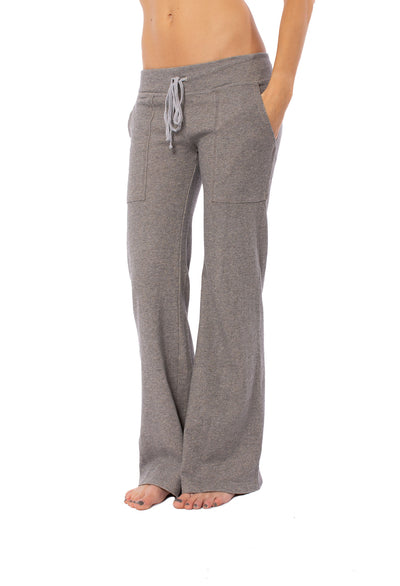 Hard Tail Forever - Easy Pocket Lounge Pant W/Lurex (HGF-07, Heather Gray w/Gold Lurex) alt view 1