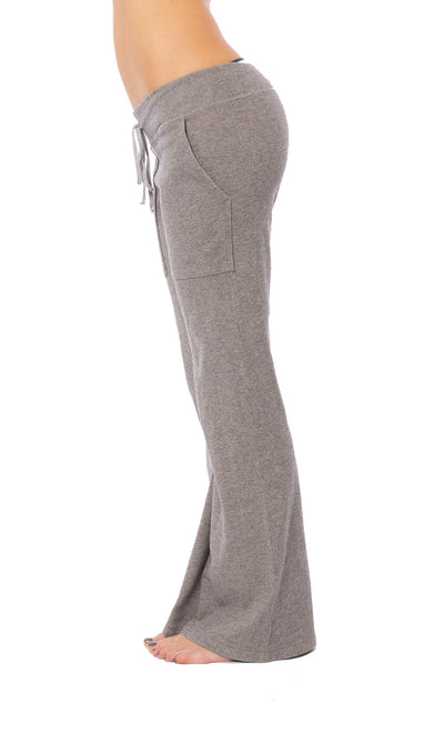 Hard Tail Forever - Easy Pocket Lounge Pant W/Lurex (HGF-07, Heather Gray w/Gold Lurex) alt view 2
