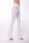 Contour Roll Down Boho Bell Pant (Style W-598, White) by Hard Tail Forever