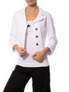 Hard Tail Forever - Fleece 3/4 Sleeve Blazer (DS-52, White)