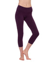 Flat Waist Capri (Style W-374, Concord Grape) by Hard Tail Forever