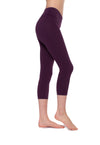 Flat Waist Capri (Style W-374, Concord Grape) by Hard Tail Forever alt view 1