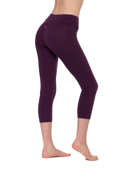 Flat Waist Capri (Style W-374, Concord Grape) by Hard Tail Forever alt view 2