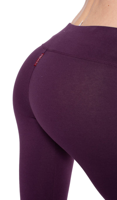 Flat Waist Capri (Style W-374, Concord Grape) by Hard Tail Forever alt view 3