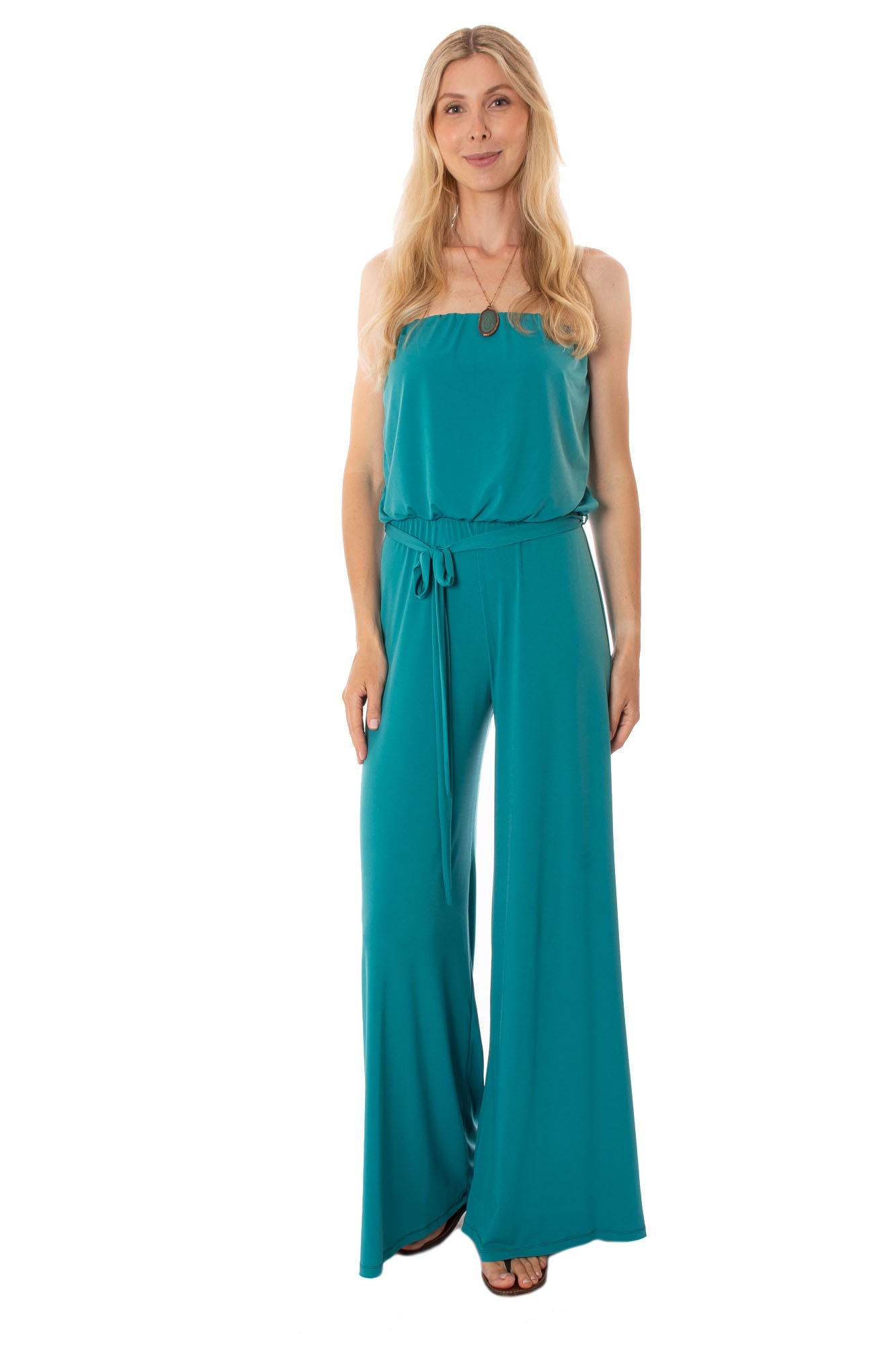 Hippie Guilt - Mary Straples Jumpsuit (HJ0006, Teal)