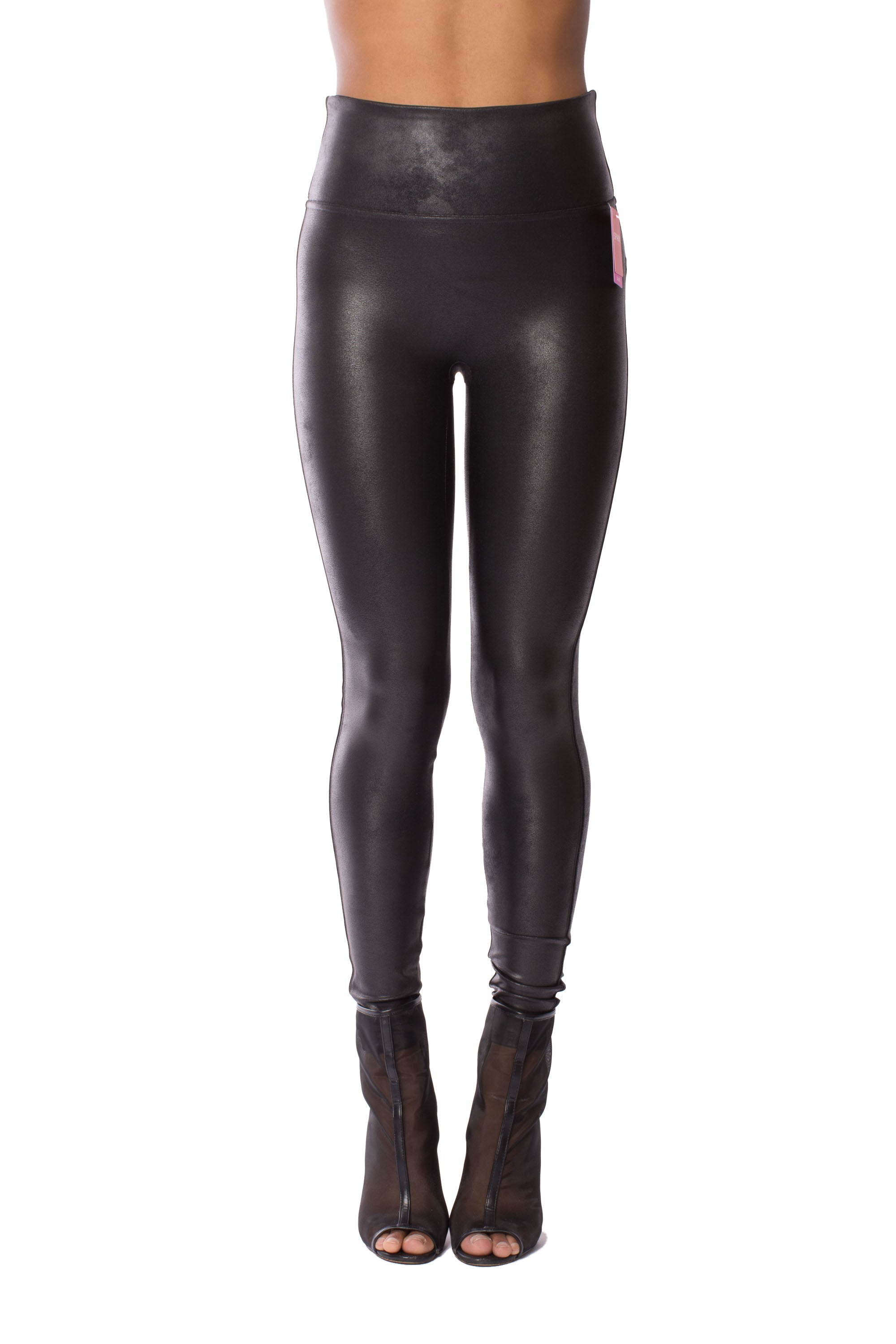 Faux Leather Pants (Black) by Spanx