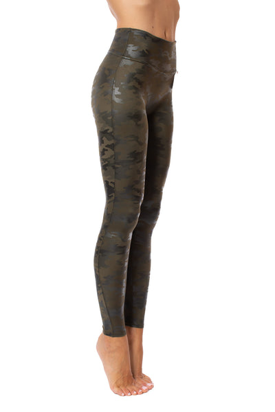Spanx - Faux Leather Camo Legging (20185R, Green Leather Camo) alt view 1