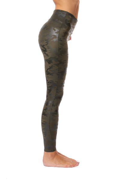 Spanx - Faux Leather Camo Legging (20185R, Green Leather Camo) alt view 2