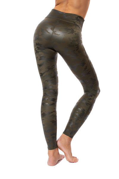 Spanx - Faux Leather Camo Legging (20185R, Green Leather Camo) alt view 3