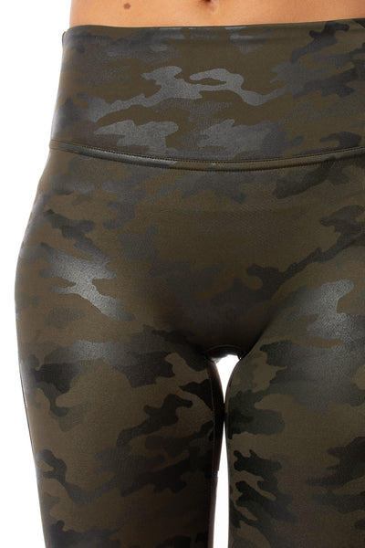 Spanx - Faux Leather Camo Legging (20185R, Green Leather Camo) alt view 5