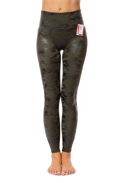 Spanx - Faux Leather Camo Legging (20185R, Green Leather Camo) alt view 7
